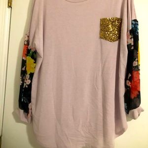 Long sleeve floral shirt brand new size 1x
